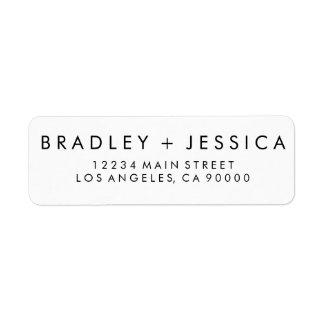 Etiquetas modernas del boda de Futura Etiquetas De Remite