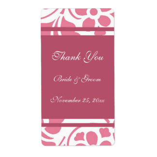 Etiquetas modernas del rosa y blancas del boda etiquetas de envío