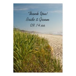 Etiquetas naturales del favor del boda de playa tarjeta de negocio