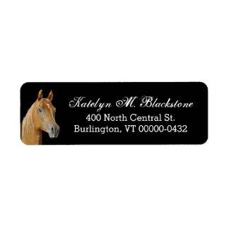 Etiquetas negras de encargo del remite del caballo etiquetas de remite