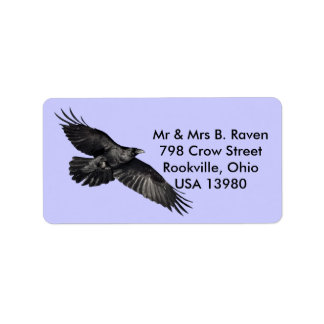 Etiquetas negras del Pájaro-amante del cuervo que  Etiquetas De Dirección