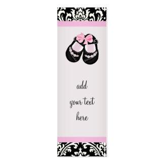 Etiquetas negras rosadas del favor de la fiesta de tarjetas personales