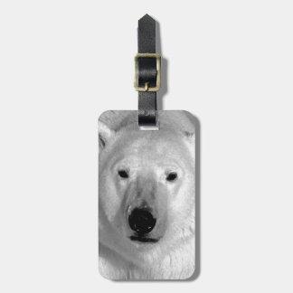 Etiquetas negras y blancas del equipaje del oso po etiquetas bolsas