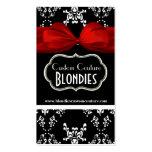 Etiquetas negras y blancas elegantes del regalo de plantillas de tarjetas de visita