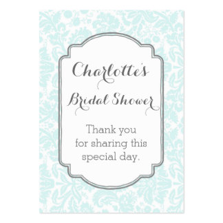 Etiquetas nupciales del favor de la ducha del tarjetas de visita grandes