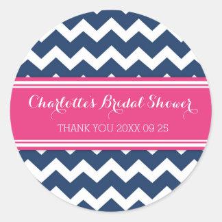 Etiquetas nupciales rosadas azules del favor de la etiquetas redondas