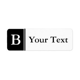 Etiquetas o etiquetas cones monograma negras de en etiqueta de remite