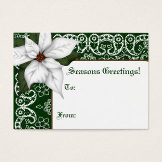 Etiquetas occidentales del regalo de vacaciones tarjetas de visita grandes
