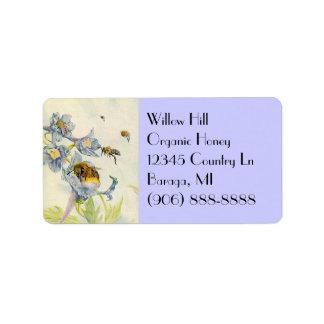 Etiquetas orgánicas de las flores de la correhuela etiquetas de dirección