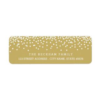 Etiquetas/oro del remite del día de fiesta de la etiqueta de remitente