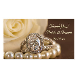 Etiquetas ovales del favor del boda del anillo de tarjetas de negocios