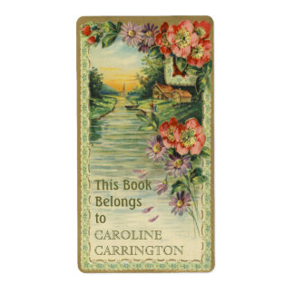 Etiquetas personales del Bookplate del vintage Etiquetas De Envío