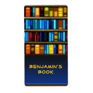 Etiquetas personales del pegatina del Bookplate Etiqueta De Envío