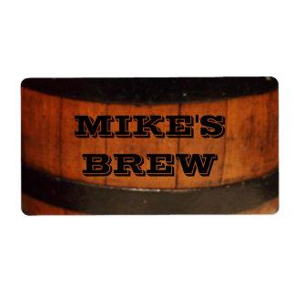 Etiquetas personalizadas de la cerveza del Brew ca Etiquetas De Envío