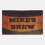 Etiquetas personalizadas de la cerveza del Brew Rectangular Pegatina