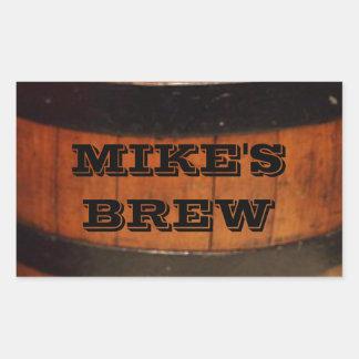 Etiquetas personalizadas de la cerveza del Brew Pegatina Rectangular