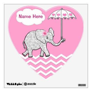 Etiquetas personalizadas de la pared del elefante