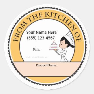 Etiquetas personalizadas decoración de la venta de pegatina redonda