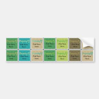 Etiquetas personalizadas del nombre de los niños pegatina de parachoque