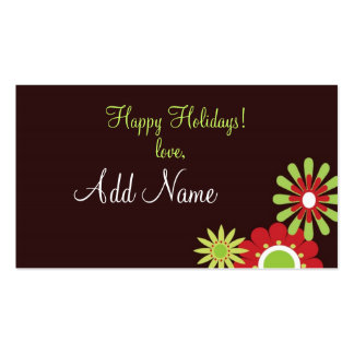 Etiquetas personalizadas del regalo de vacaciones tarjeta de visita