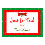 Etiquetas personalizadas del regalo del navidad de tarjetas personales