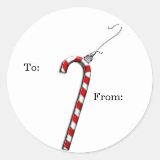 etiquetas personalizadas del regalo del navidad pegatina redonda