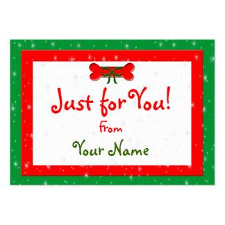 Etiquetas personalizadas del regalo del navidad tarjetas de visita grandes