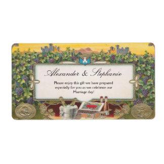 Etiquetas personalizadas del viñedo de las uvas de etiqueta de envío