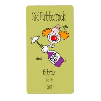 Etiquetas personalizadas divertidas del vino etiquetas de envío