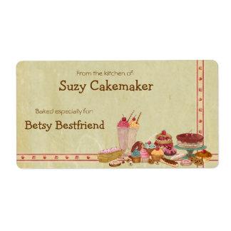 Etiquetas personalizadas invitaciones del dulce etiqueta de envío