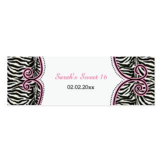 Etiquetas personalizadas rosa elegante del regalo tarjetas de visita mini