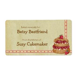 Etiquetas personalizadas torta de frutas de la fre etiqueta de envío