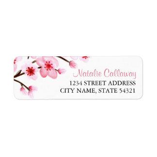Etiquetas pintadas del remite de las flores de etiquetas de remite
