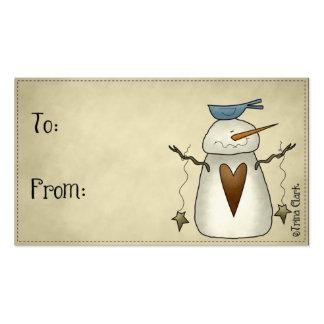Etiquetas primitivas del regalo del diseño del paí plantilla de tarjeta de visita