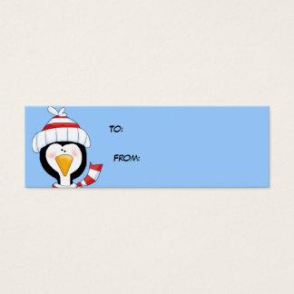 Etiquetas principales del regalo del navidad del tarjetas de visita mini