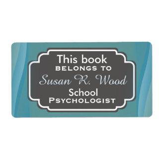 Etiquetas profesionales del libro del psicólogo de etiquetas de envío