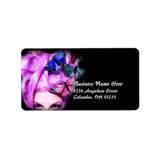 Etiquetas púrpuras 2 de la señora dirección de la  etiquetas de dirección