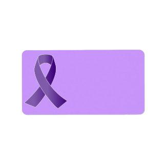Etiquetas púrpuras de la cinta de la ayuda etiquetas de dirección