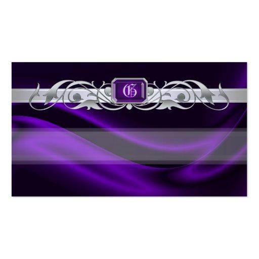 Etiquetas púrpuras del favor de la voluta de la tarjetas de visita