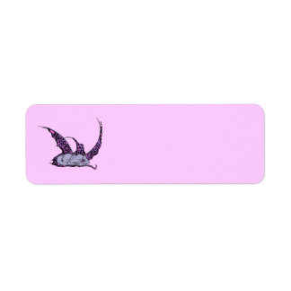 Etiquetas (púrpuras) el dormir Dragonette Etiqueta De Remitente