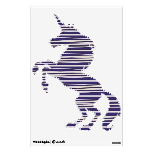 Etiquetas púrpuras frescas de la pared del unicorn