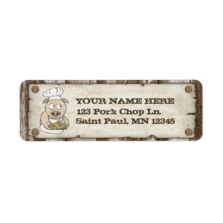 Etiquetas queridas del remite del Bbq del cerdo Etiqueta De Remite
