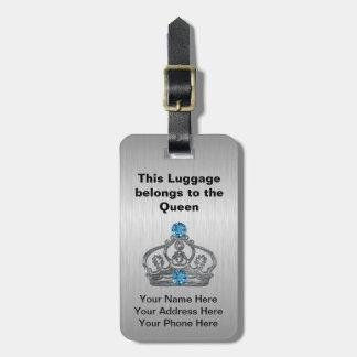 Etiquetas reales del bolso de la corona etiquetas de equipaje