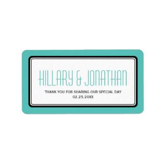 Etiquetas rectangulares del favor del boda del mar etiqueta de dirección