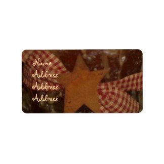 Etiquetas remilgadas/de la estrella de la vela de  etiquetas de dirección