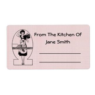 Etiquetas retras de la cocina de los años 30 etiquetas de envío