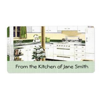 Etiquetas retras de la cocina de los años 40 etiquetas de envío