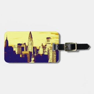 Etiquetas retras de New York City para el equipaje Etiquetas Bolsas