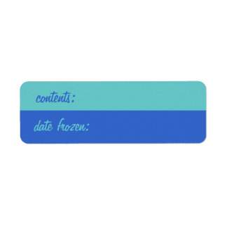 Etiquetas retras del congelador etiqueta de remite