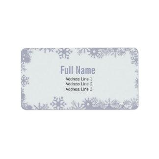 Etiquetas retras del navidad de los copos de nieve etiquetas de dirección